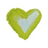 为在水彩样式的华伦泰s天导航心脏 在白色背景隔绝的手拉的各种各样的心脏 图库摄影