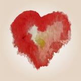 为在水彩样式的华伦泰s天导航心脏 拉长的现有量重点 库存图片