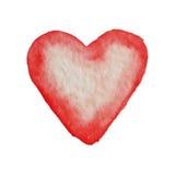 为在水彩样式的华伦泰s天导航心脏 库存图片