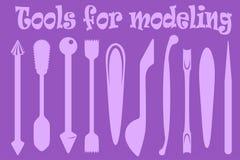 为塑造的工具 库存例证