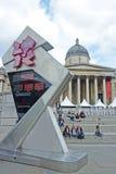 为奥林匹克运动会准备的Trafalgar广场 免版税图库摄影