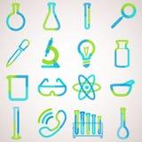 为实验室设置的商标 向量例证