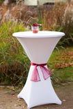 为室外婚礼装饰的棒表 免版税图库摄影