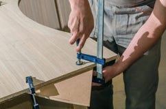 为家具制造的工具  免版税库存图片