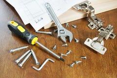 为家具装配的工具  免版税库存图片