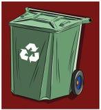 为家庭废物设计的垃圾箱 免版税库存图片
