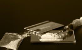 为射入准备的海洛因 免版税库存照片