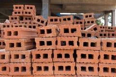 为工业砖块使用的堆 库存照片