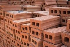 为工业砖块使用的堆 免版税库存图片