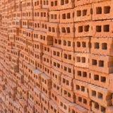 为工业砖块使用的堆 免版税图库摄影
