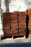 为工业砖块使用的堆 免版税库存照片