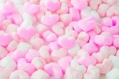 为情人节爱,桃红色泡沫心脏,背景, 免版税图库摄影