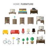 为房子设置的家具 免版税库存图片
