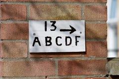 为房子13和舱内甲板A、B、C、D和F签字 图库摄影