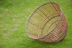 为抓住鱼,泰国样式的竹工艺工具 库存图片