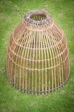为抓住鱼,泰国样式的竹工艺工具 库存照片