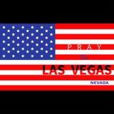 为拉斯维加斯内华达祈祷 美国国旗 对恐怖主义攻击在LV 2017年10月1日的大量射击的受害者的进贡 支持为 库存例证