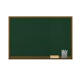 为教育隔绝的黑板在纸illustratio学校  图库摄影