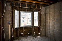 为整修毁坏的家庭内部 库存照片