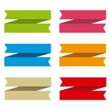 为文本设置的丝带, differents颜色 库存图片