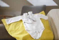 为新的婴孩准备! 库存照片