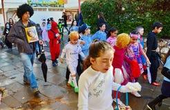 为普珥节装饰的孩子 免版税图库摄影