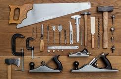 为木匠的工具 免版税库存图片