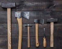 为木匠的工具 库存图片