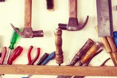 为木工作的被分类的工具 库存照片
