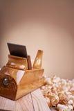 为木材加工的工具 免版税库存照片