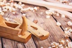 为木材加工的手工具 库存照片