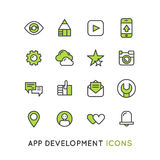 为机动性或膝上型计算机用户存取的应用服务设置的商标 图库摄影