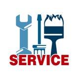 为标志服务与工具 免版税库存图片