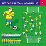 为橄榄球infographic 1设置 库存照片