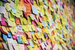 为民主愿望墙壁的战斗 免版税库存图片