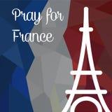 为法国祈祷 库存照片