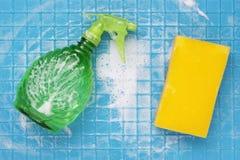 为清洗的工具 免版税库存照片
