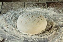 为烘烤的面包做准备 库存照片