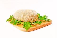 为烤面包的炸肉排在一个航空格栅 库存图片
