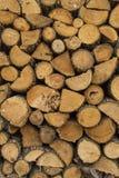 为燃料木头准备的堆 库存图片