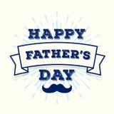 为爸爸假日导航在旭日形首饰的愉快的父亲节贺卡 向量例证