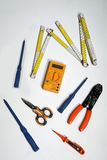 为电工的工具 免版税库存图片