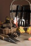 为秋天的园艺工具 免版税图库摄影