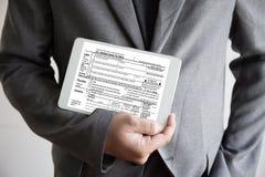 为税务计划金钱财务会计征税Busi计时 免版税库存图片