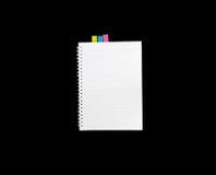 为笔记隔绝的笔记本和写道 免版税图库摄影
