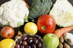 为糖尿病建议使用的健康食物 免版税库存图片