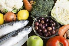 为糖尿病建议使用的健康食物 库存照片