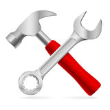 为维修服务的工具 库存例证