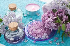 为芳香疗法设置的芳香温泉,按摩,阿那放松 库存照片