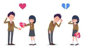 为被爱的ones_School女孩被邀请的男生提出 免版税库存图片
